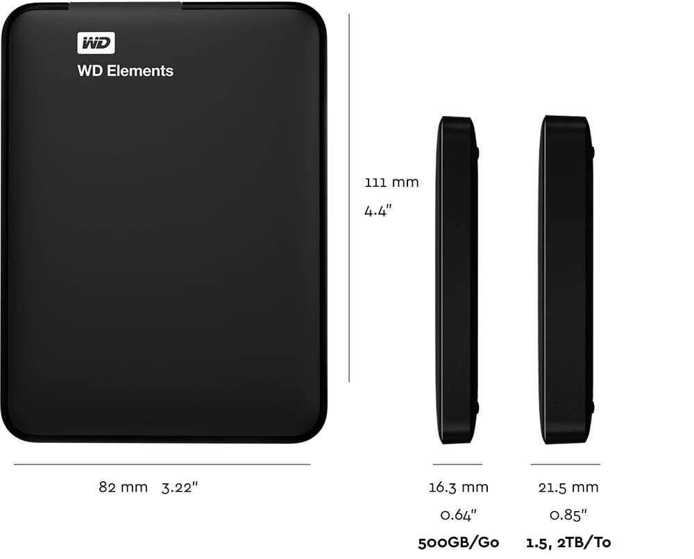 WD Elements 1TB 2.5' USB 3.0 Taşınabilir Disk