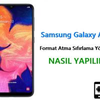 Samsung Galaxy A10s Format Atma Sıfırlama Yöntemi