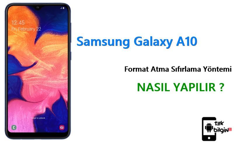 Samsung Galaxy A10 Format Atma Sıfırlama Yöntemi 10