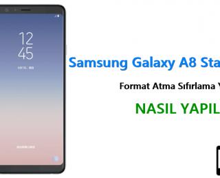 Samsung Galaxy A8 Star Format Atma Sıfırlama Yöntemi
