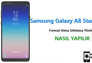 Samsung Galaxy A8 Star 2 Format Atma Sıfırlama Yöntemi
