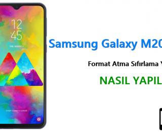 Samsung Galaxy M20 Format Atma Sıfırlama Yöntemi