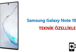 Samsung Galaxy Note 10 – Teknik Özellikleri